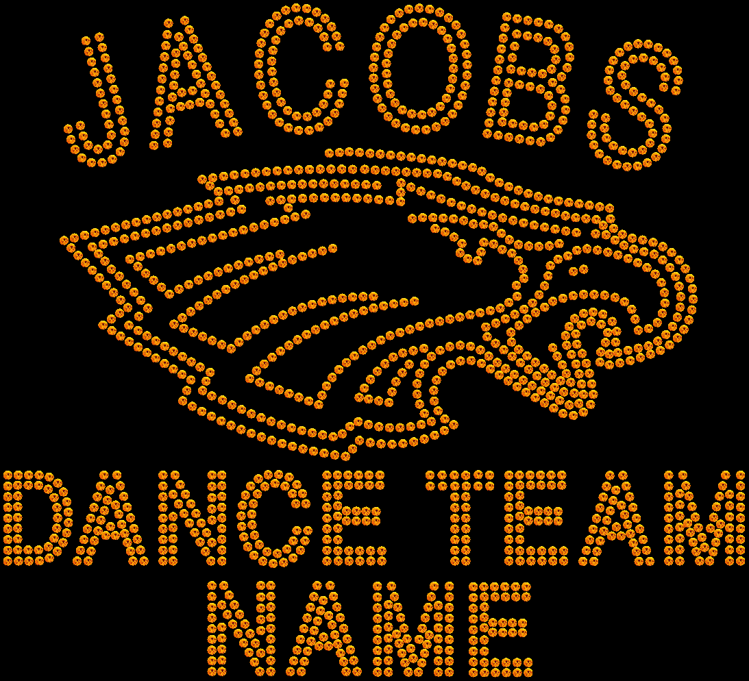 JACOBS HS DANCE TEAM RHINESTONE BACK PACK 1