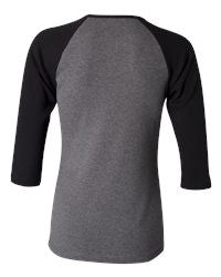 1-BELLA LADIES 3/4 SLEEVE RAGLAN TSHIRT