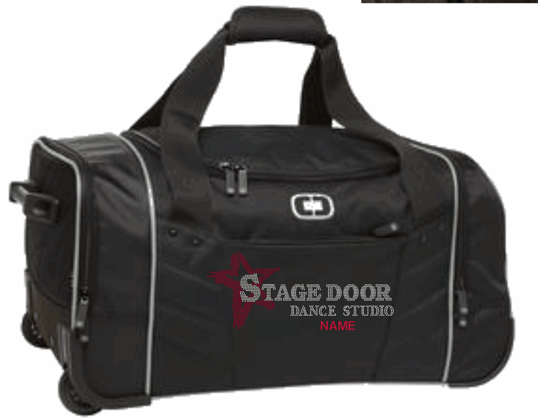 STAGE DOOR ROLLING DUFFEL BAG