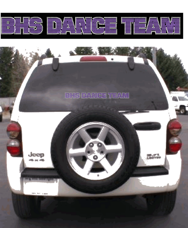 BHS RHINESTONE CAR DECAL 1