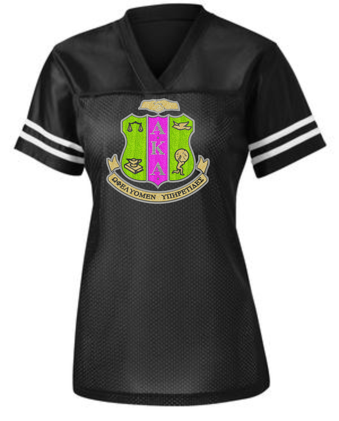 AKA FITTED BLING LADIES JERSEY 2