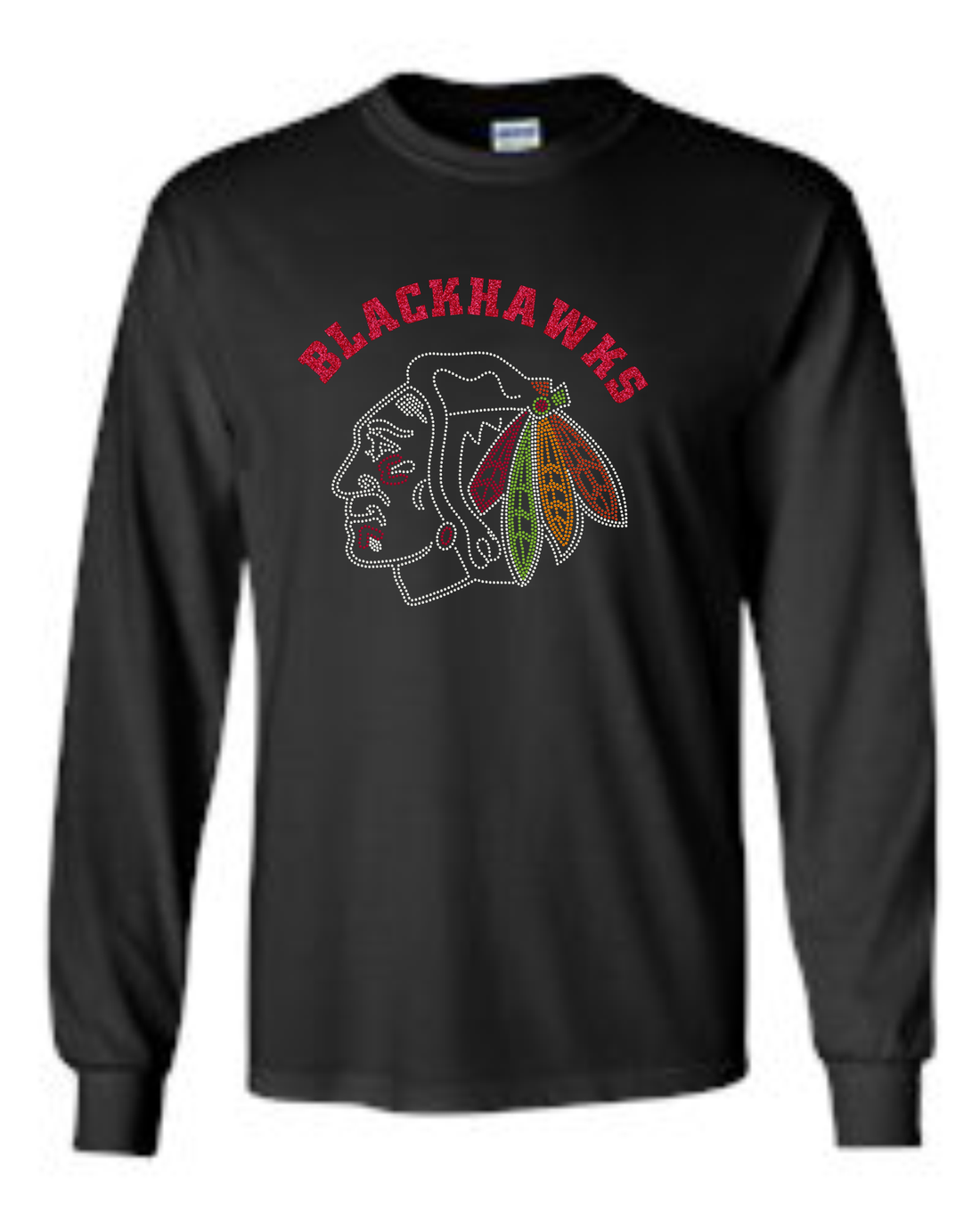 BLACKHAWKS RHINESTONE T-SHIRTS