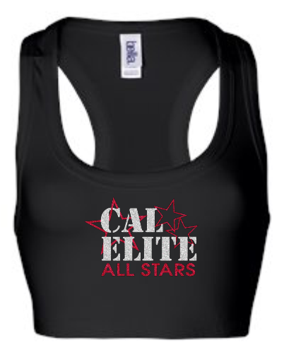 CAL ELITE GLITTER BRA TOP