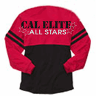 CAL ELITE GLITTER SPIRIT TOP