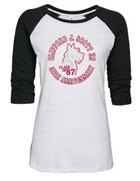 CJSHS LADIES GLITTER BASEBALL TEE 1 -AVAILABLE IN 2 COLORS