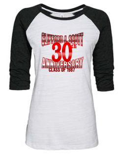 CJSHS LADIES METALLIC BASEBALL TEE 2 -AVAILABLE IN 2 COLORS