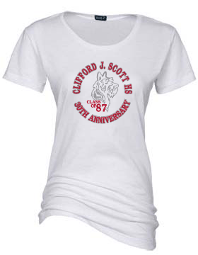 CJSHS LADIES RHINESTONE FITTED TEE-WHITE