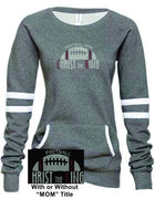 CTK LADIES VARSITY FLEECE CREW NECK RHINESTONE PULLOVER-FOOTBALL SWEATSHIRT 2