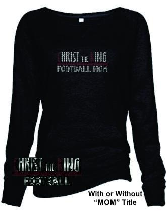 CTK LADIES SLOUCHY BURNOUT CREW NECK PULLOVER- FOOTBALL SWEATSHIRT 1