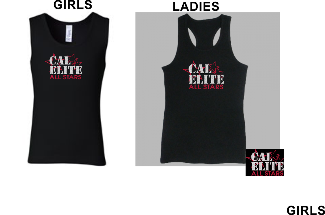 "CAL ELITE ""BLING"" PRACTICE TANK (NON-PERFORMANCE)- For Her"