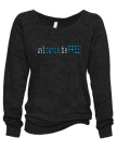 DanceFree Bling Slouchy Burnout Sweatshirt