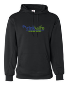 Drink Life Youth Performance Pullover Hooded Sweatshirt- Rhinestone