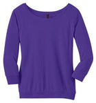 1-District Made® - Ladies Modal Blend 3/4-Sleeve Raglan DM482
