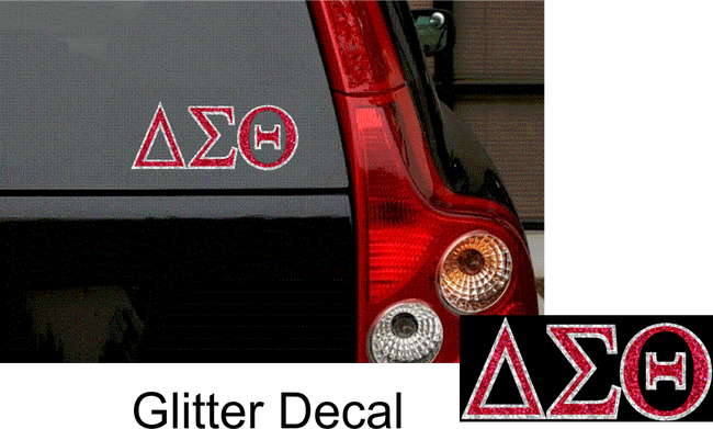 DST GLITTER CAR DECAL