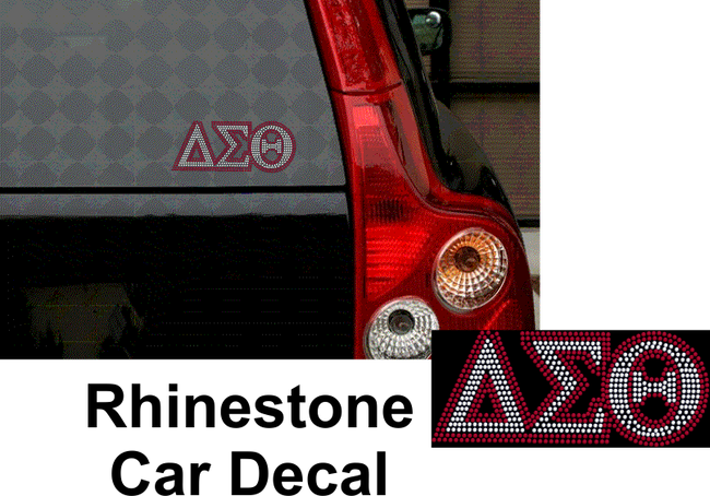 DST RHINESTONE CAR DECAL