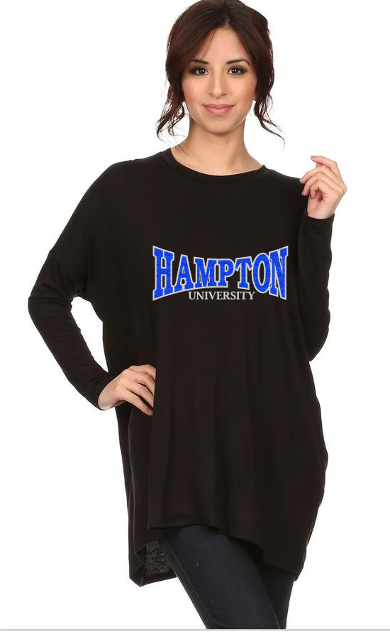 HU GLITTER 1-LONG SLEEVE DRAPED TEE (AVAILABLE IN 2 DESIGNS)