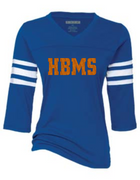 HBMS 3 QTR SLEEVE FOOTBALL BLING TEE 2