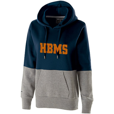 HBMS Glitter Two Tone Hooded Sweatshirt- Blue