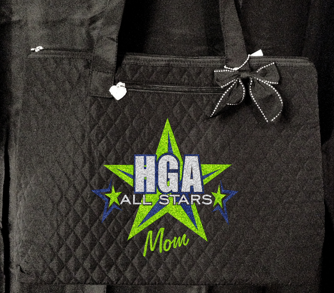 HGA GLITTER TOTE BAG (TWO DESIGNS AVAILABLE)