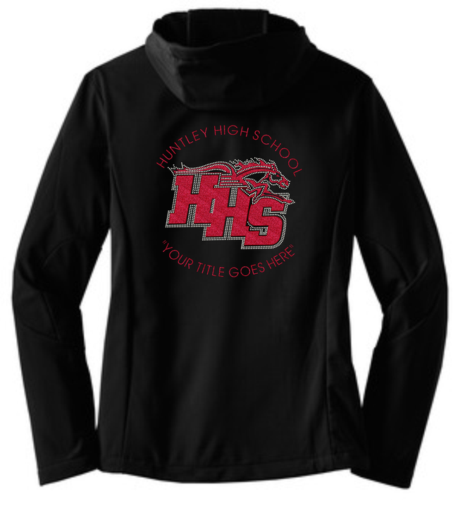"HHS ""BLINGED"" HOODED SOFT SHELLED JACKET 2"