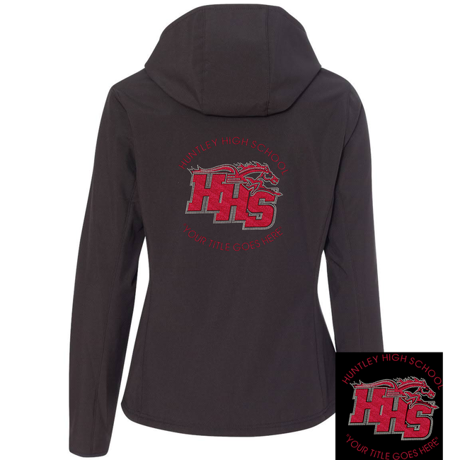 "HHS ""BLINGED"" HOODED SOFT SHELLED JACKET"