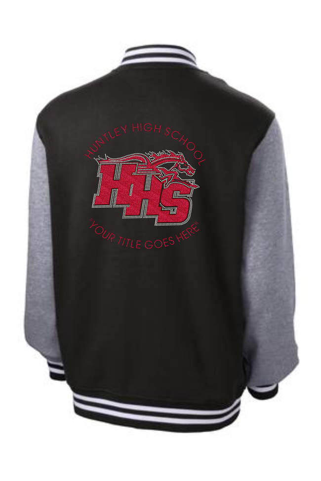 "HHS ""BLINGED"" VARSITY FLEECE JACKET"