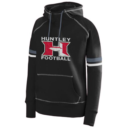 "HHS FOOTBALL ""BLING"" STRIPE SWEATSHIRT"