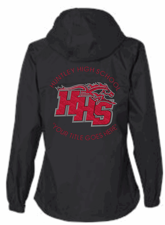 "HHS ""BLINGED"" LINED HOODED PARKER"