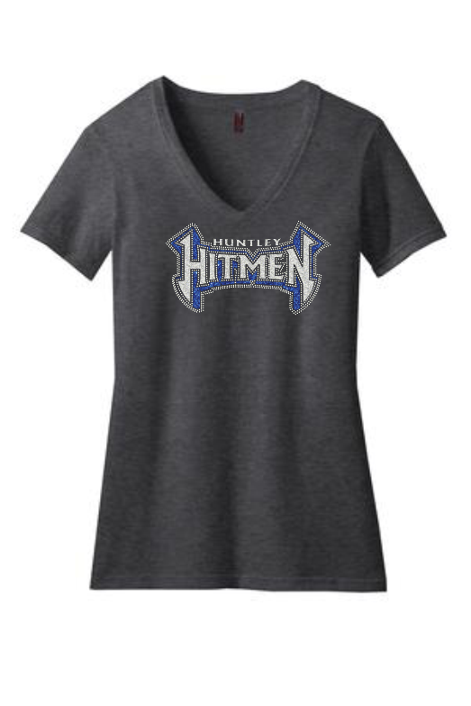 HITMEN Rhinestone Ladies Perfect Blend® V-Neck Tee