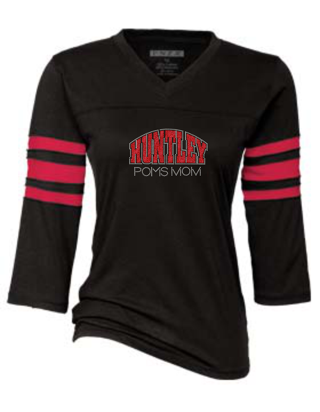 "HPD ""BLINGED"" 3/4 SLEEVE JERSEY TEE"