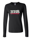 HHS Bling Long Sleeve Fitted Tee- CHEER MOM