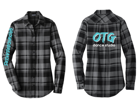 OTG LOGO PLAID FLANNEL SHIRT