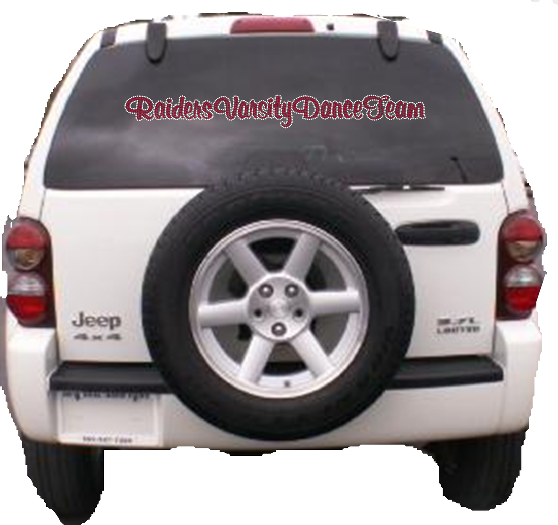 HHS RHINESTONE CAR DECAL