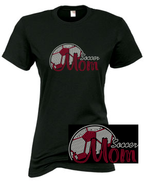 "SOCCER MOM ""BLING"" TEE 3"