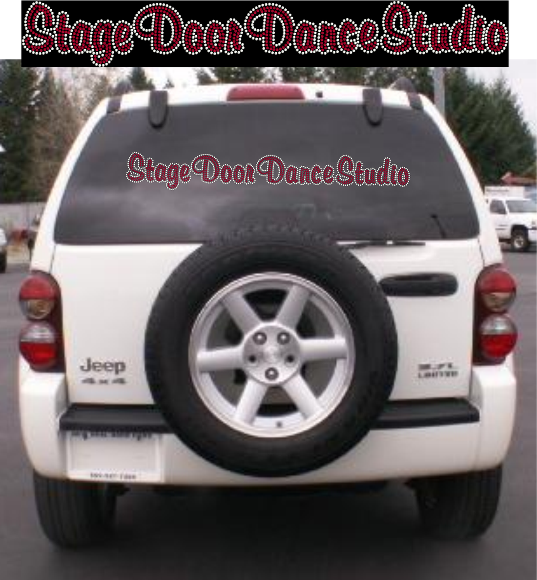 STAGE DOOR RHINESTONE CAR DECAL RHINESTONES
