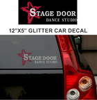 STAGE DOOR LOGO CAR DECAL (RHINESTONES OR GLITTER)