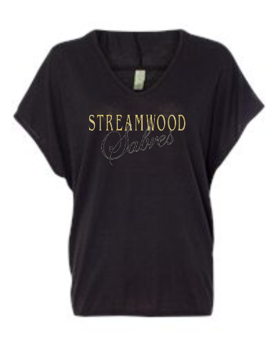 Streamwood Bling Hooded Slouchy Top