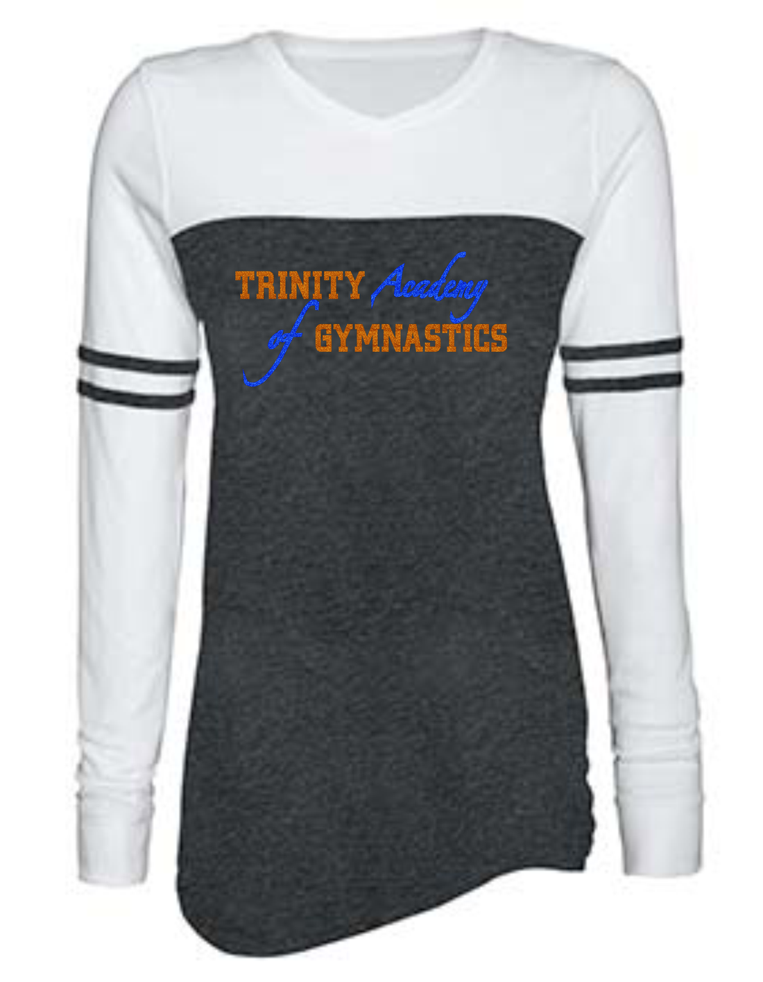 TAOG Ladies Triblend Varsity Long Sleeve Tee (Rhinestone or Glitter)