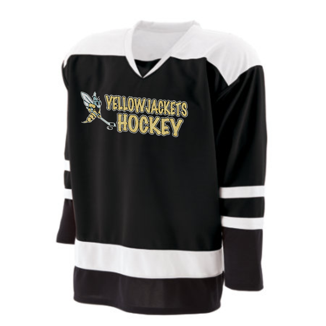 YELLOWJACKETS BLINGED HOCKEY JERSEY (HEAVY WEIGHT)