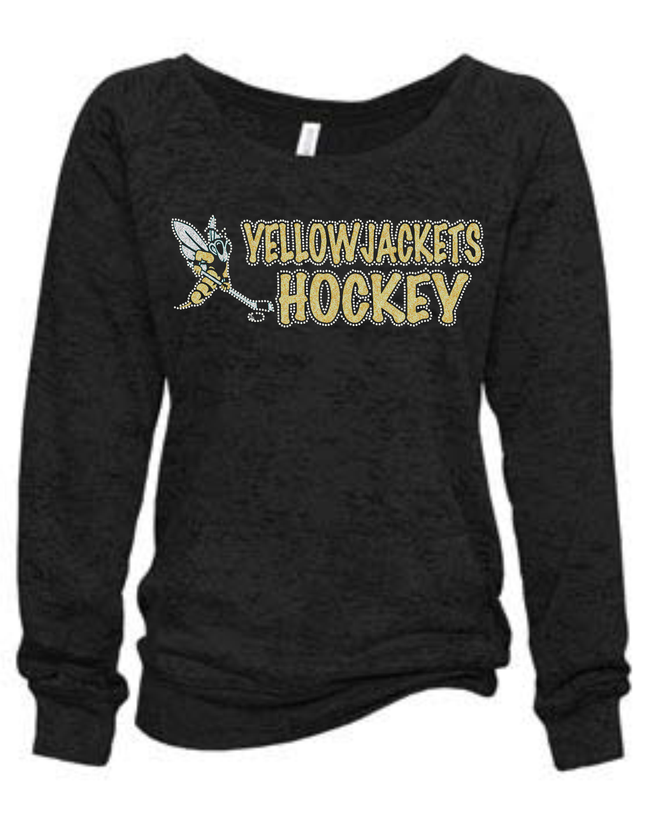 YELLOWJACKETS SLOUCHY BURNOUT SWEATSHIRT