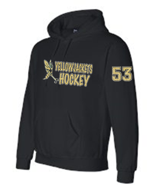YELLOWJACKETS SWEATSHIRT (NAME ON BACK/ NUMBER ON SLEEVE)