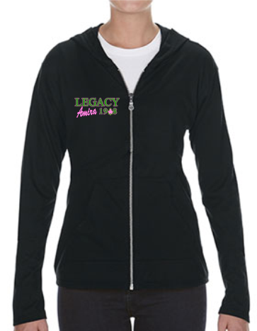"""LEGACY 1908"" Women's Tri-Blend Full-Zip Hooded Jacket"