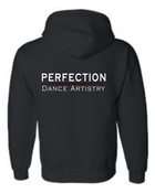 PERFECTION HOODED ZIPPED SWEATSHIRT