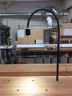 Super Nova mounted on joiner's bench