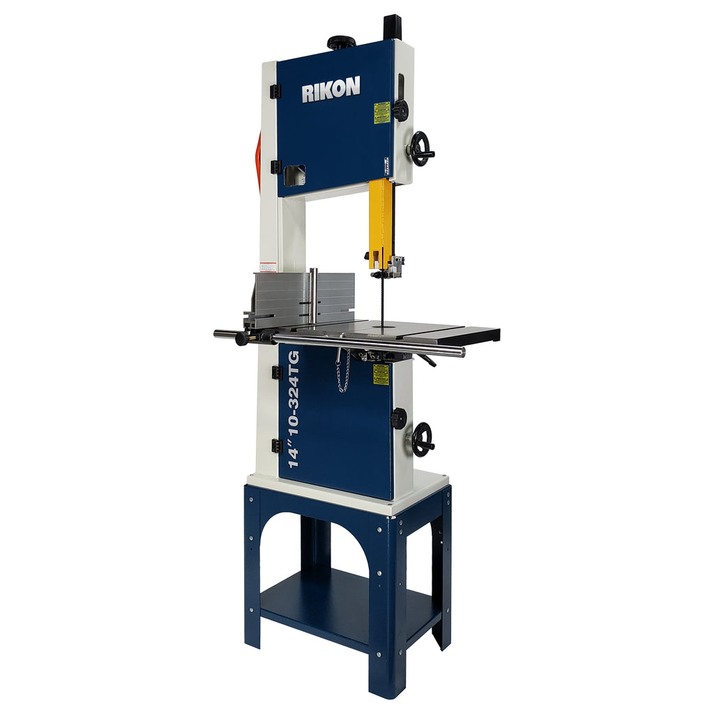 "Rikon 14"" Bandsaw 1.5 HP Motor with Tool-less Guides 10-324TG"
