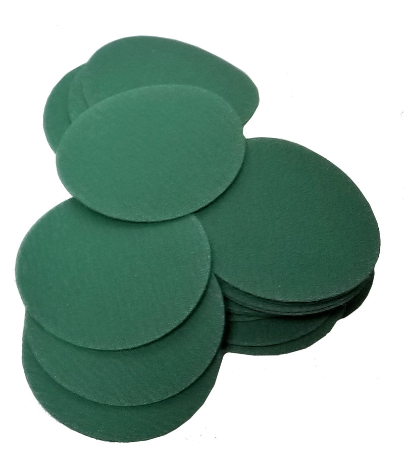 "Remover-Smoother Green Sanding Discs on a 1"" mandrel"