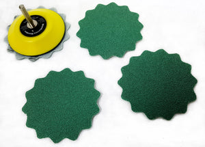 Green Wave Sanding Discs, 3-inch - Sample Pack