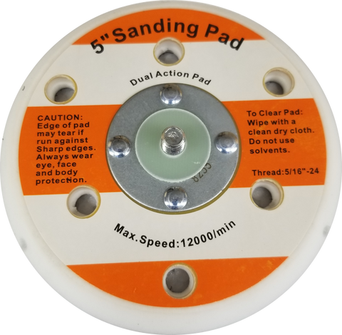 Hook and Loop Sanding Pad Holder, 5-inch