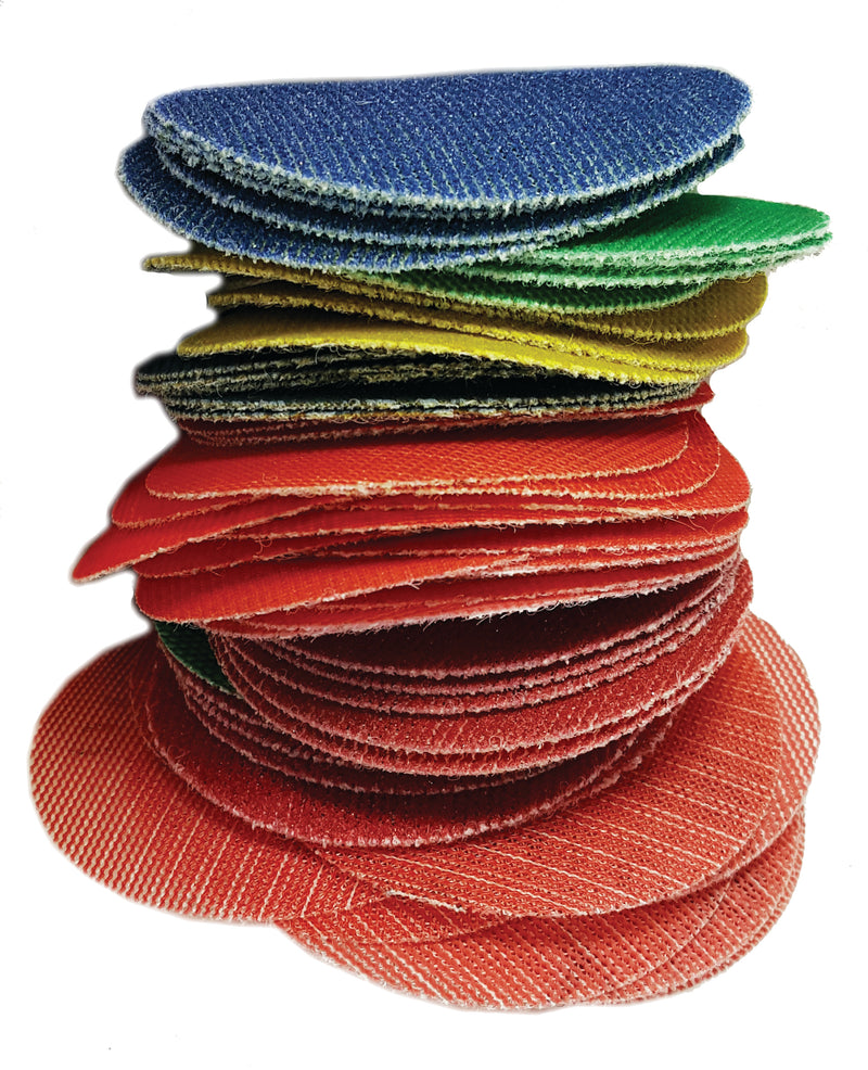 Wonder Weave 3-inch Sanding Discs, SAMPLE PKG - HIGH GRITS