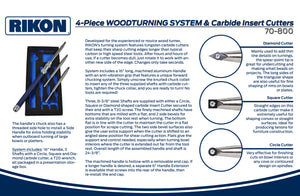 Rikon 4-Piece Woodturning System with Carbide Inserts